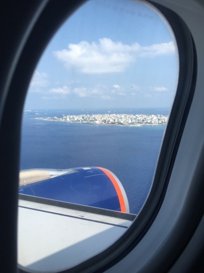 Stolica - Male - widok z samolotu
